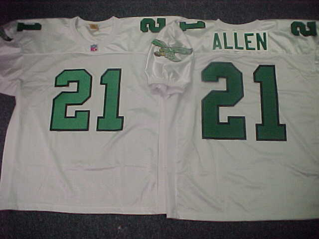 90's Eagles THROWBACK WHITE Jersey at 2008 Eagles Jerseys