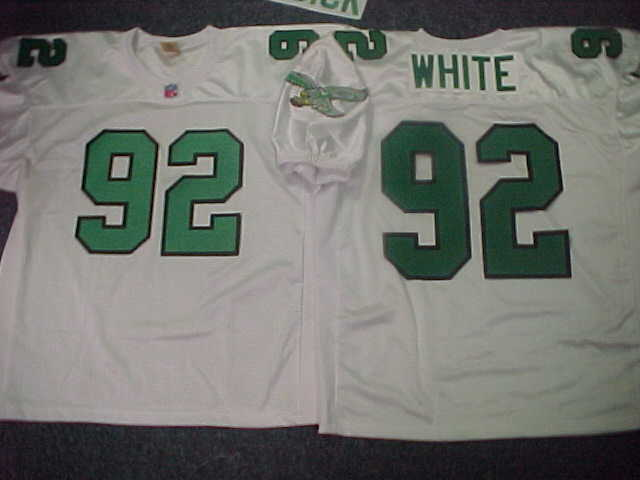 cheap for discount a2626 ca355 90's Eagles THROWBACK WHITE Jersey at 2008 Eagles Jerseys
